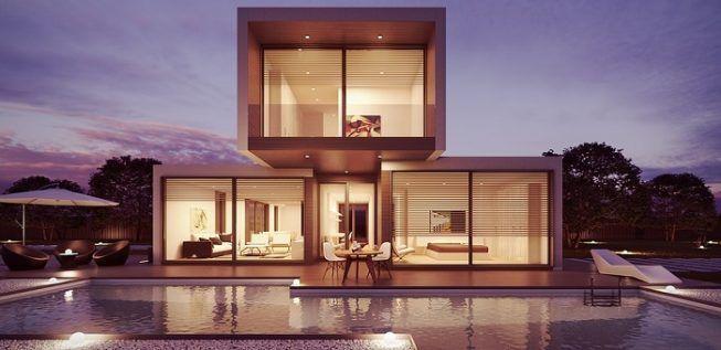 Casa con estilo minimalista