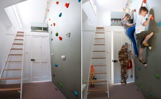 Habitación con zona de ejercicios y juegos