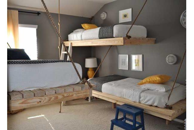 Habitación infantil con cama suspendida