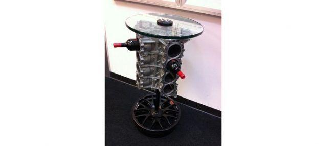 Motor como base para mesa